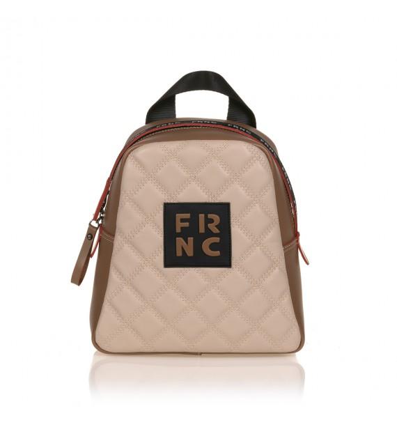 FRNC 1201-K backpack  καπιτονέ μπισκοτί - μπεζ
