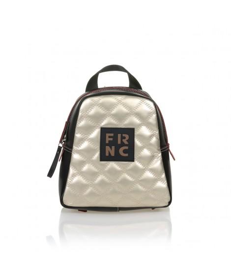 FRNC 1201-K backpack  καπιτονέ μαύρο - πλατίνα