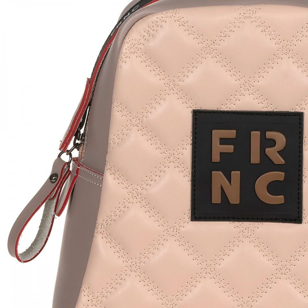 FRNC 1201-K backpack  καπιτονέ  πάγος -πούδρα