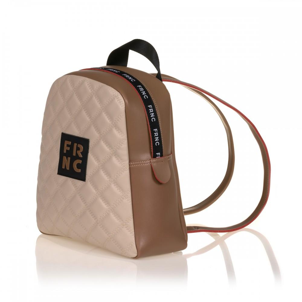 FRNC 1202-K backpack καπιτονέ μπισκοτί - μπεζ