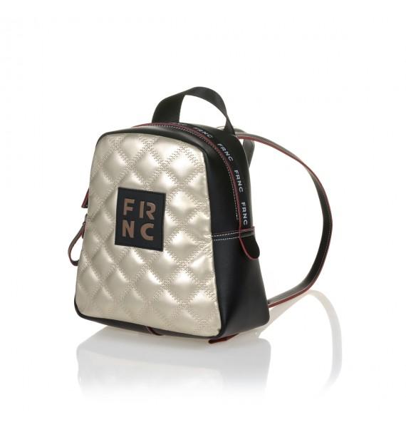 FRNC 1202-K backpack καπιτονέ μαύρο - πλατίνα