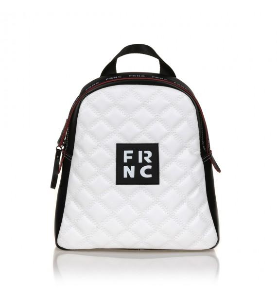 FRNC 1202-K backpack καπιτονέ μαύρο - λευκό