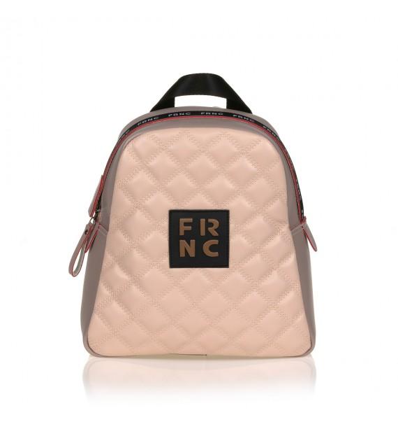 FRNC 1202-K backpack καπιτονέ πάγος - πούδρα