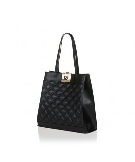 FRNC 12101 τσάντα χειρός - ώμου, μαύρο