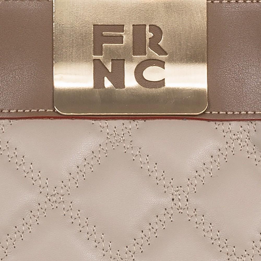 FRNC 12102 τσάντα χειρός - ώμου, μπισκοτί - μπεζ