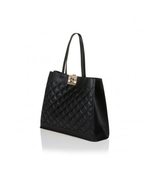 FRNC 12102 τσάντα χειρός - ώμου, μαύρο