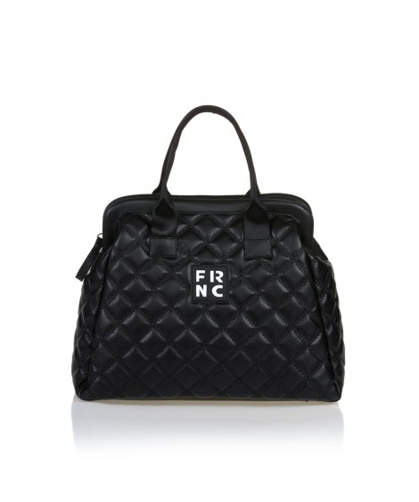 FRNC 12105 τσάντα χειρός - χιαστί μαύρο.