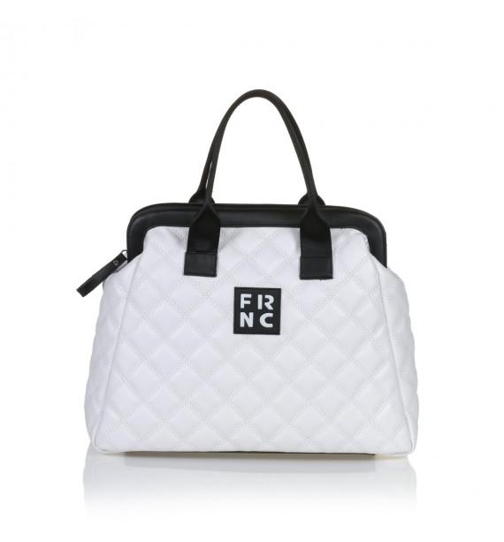 FRNC 12105 τσάντα χειρός - χιαστί, λευκό