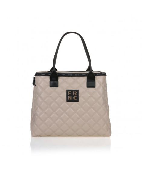 FRNC 12114 τσάντα χειρός - ώμου, μπεζ