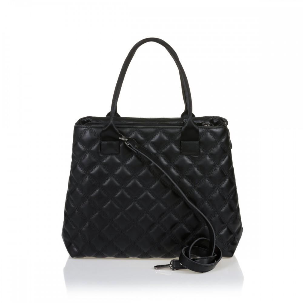 FRNC 12114 τσάντα χειρός - ώμου, μαύρο