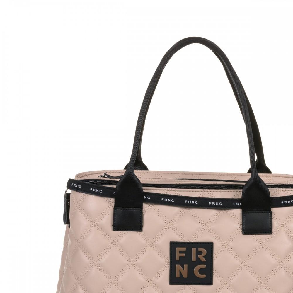 FRNC 12114 τσάντα χειρός - ώμου, πούδρα