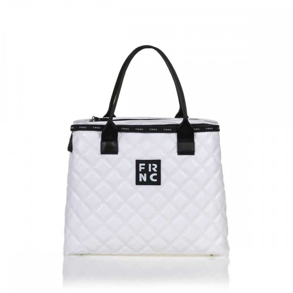 FRNC 12114 τσάντα χειρός - ώμου, λευκό
