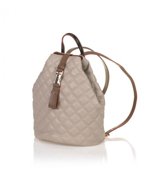 FRNC 1287 backpack πουγκί καπιτονέ, μπεζ