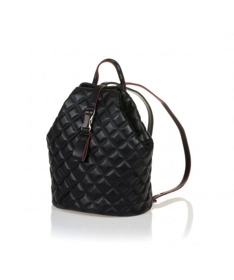 FRNC 1287 backpack πουγκί καπιτονέ, μαύρο