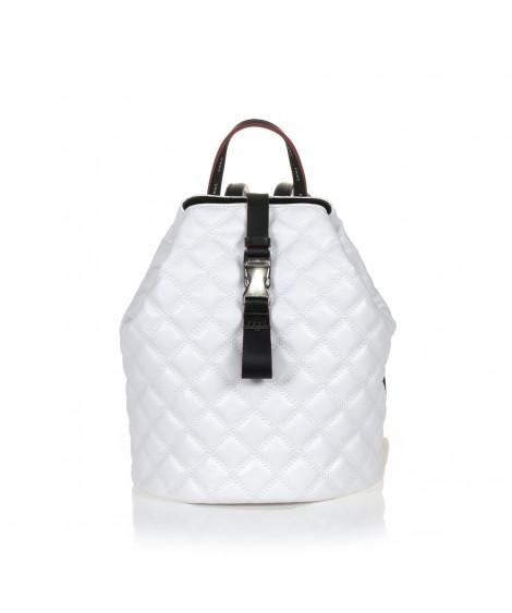 FRNC 1287 backpack πουγκί καπιτονέ, λευκό