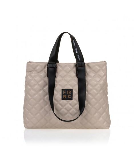 FRNC 1295 τσάντα χειρός-ώμου, μπεζ