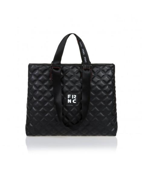 FRNC 1295 τσάντα χειρός-ώμου, μαύρο