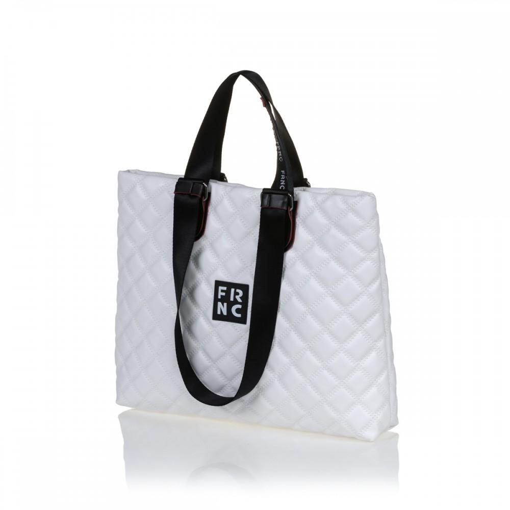 FRNC 1295 τσάντα χειρός-ώμου, λευκό