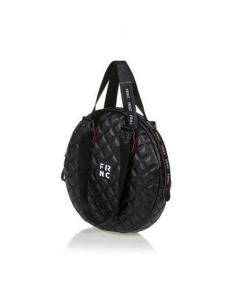 FRNC 1296 στρογγυλή τσάντα ώμου - χειρός, μαύρο