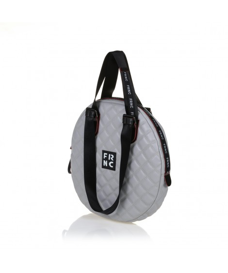 FRNC 1296 στρογγυλή τσάντα ώμου - χειρός, γκρι