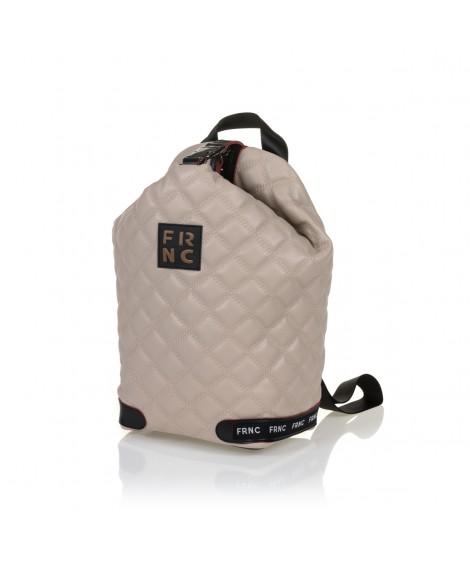 FRNC 1297 backpack πουγκί καπιτονέ, μπεζ