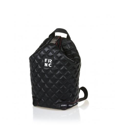 FRNC 1297 backpack πουγκί καπιτονέ, μαύρο