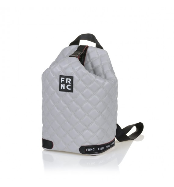 FRNC 1297 backpack πουγκί καπιτονέ, γκρι