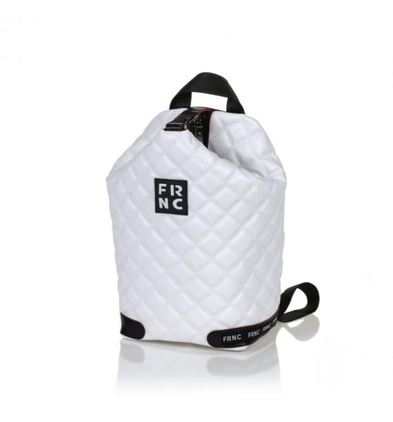 FRNC 1297 backpack πουγκί καπιτονέ, λευκό