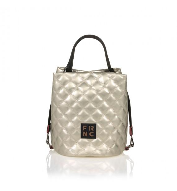 FRNC 1299 τσάντα χειρός - ώμου, πλατίνα