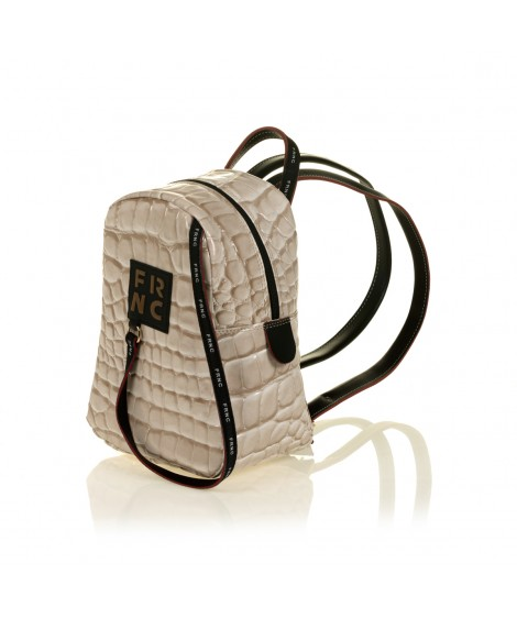 FRNC 1409 backpack croco, μπεζ