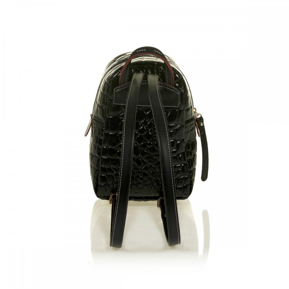 FRNC 1409 backpack croco, μαύρο