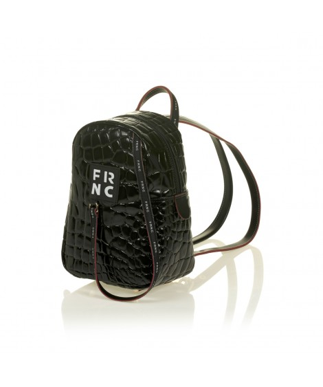 FRNC 1409 backpack croco, μαύρο