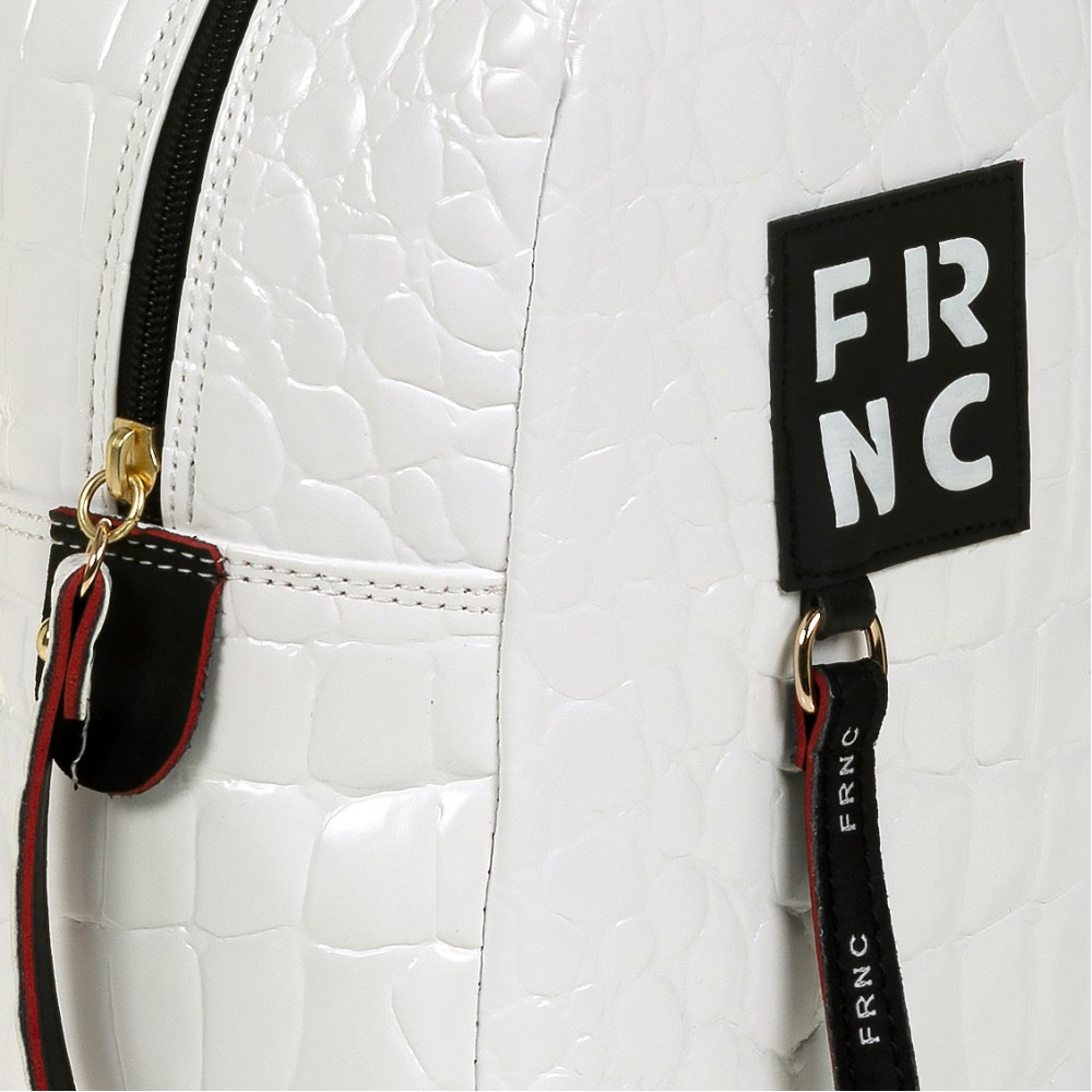 FRNC 1409 backpack croco, λευκό