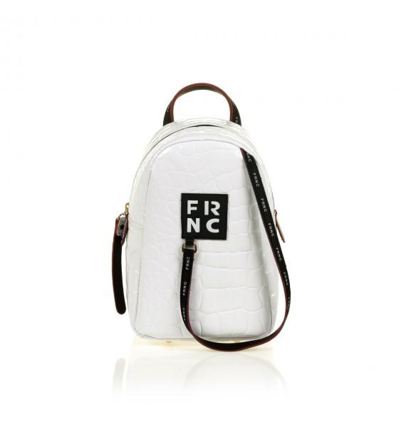 FRNC 1409 backpack croco, λευκό