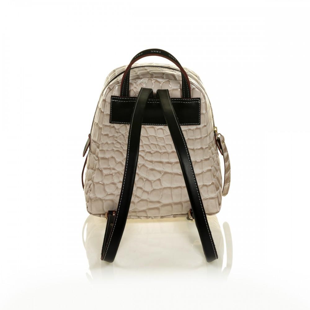 FRNC 1410 backpack croco, μπεζ