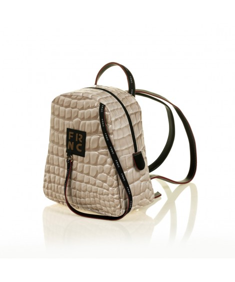 FRNC 1410 backpack croco, μπεζ