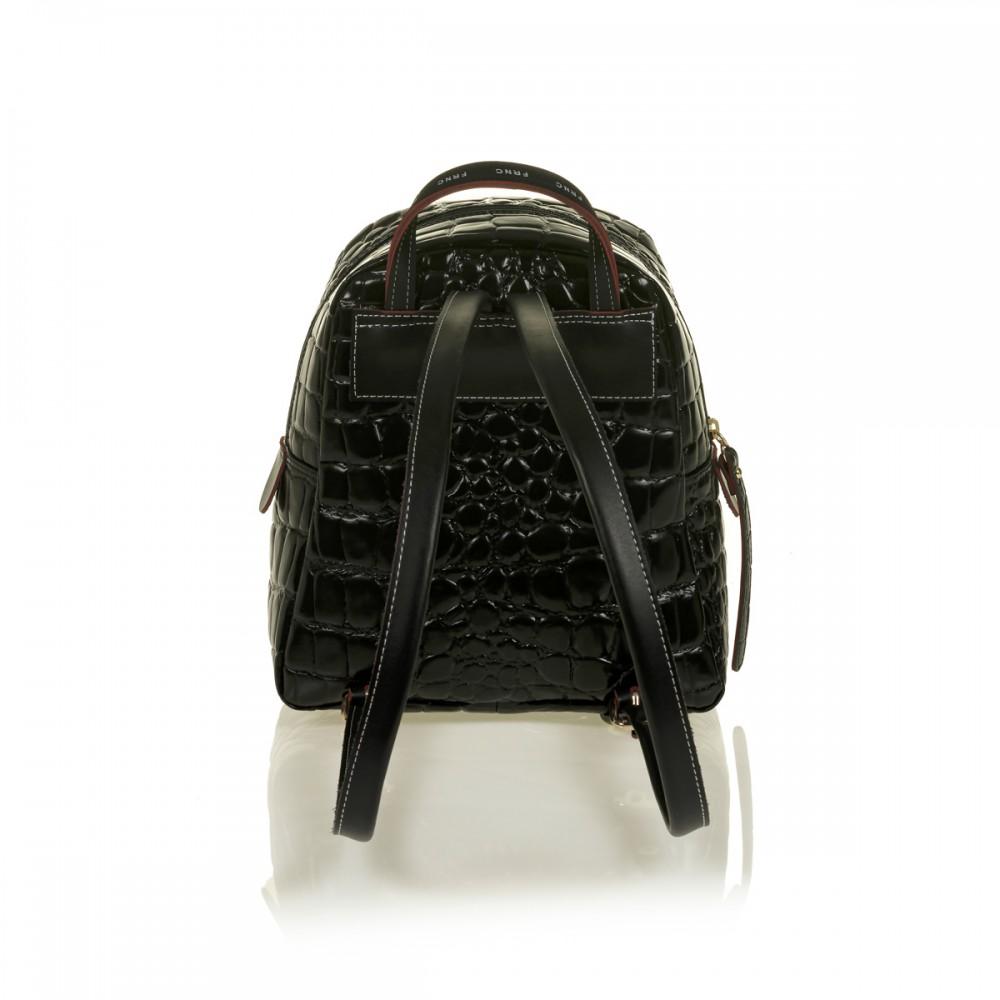 FRNC 1410 backpack croco, μαύρο