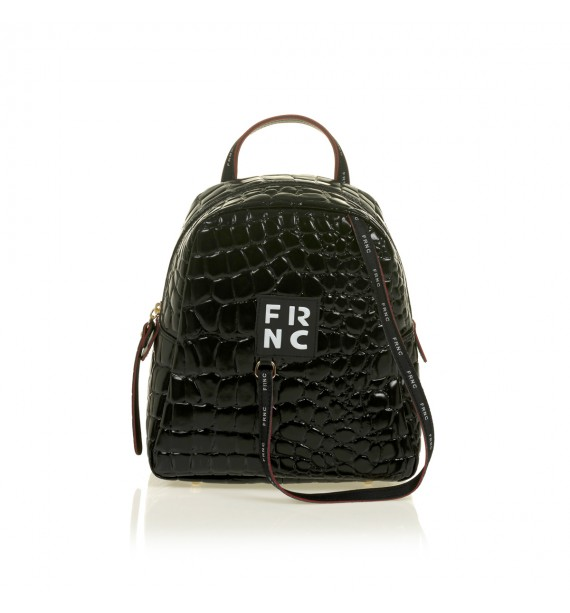 FRNC 1410 backpack croco, μαύρο