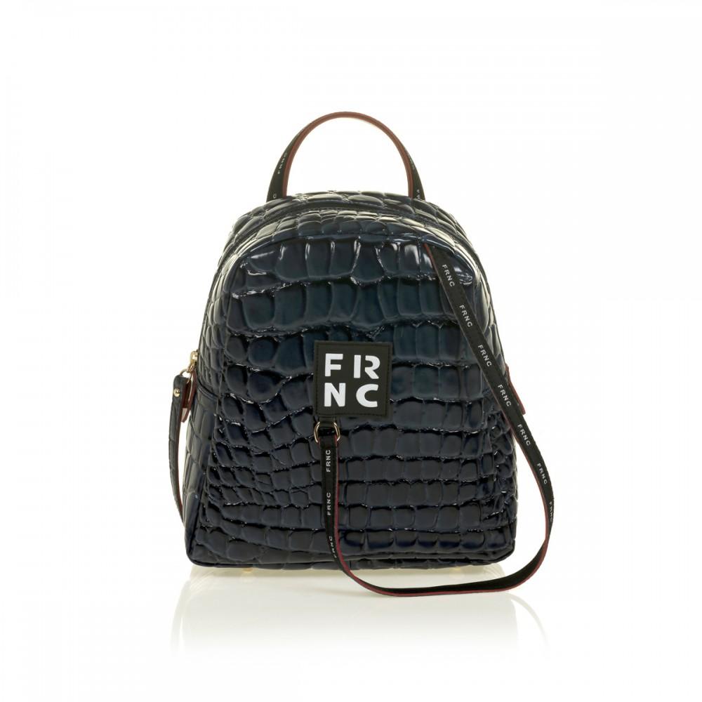 FRNC 1410 backpack croco, μπλε