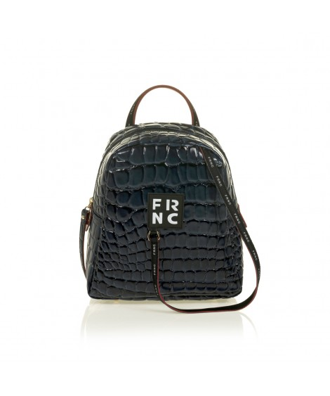FRNC 1410 backpack croco, μπλε