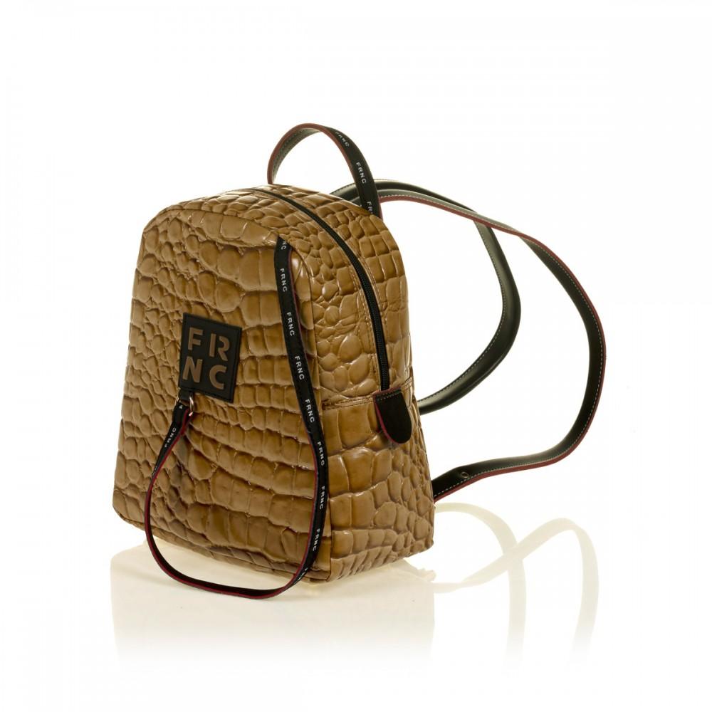 FRNC 1410 backpack croco, κάραμελ