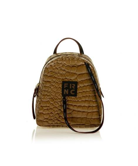 FRNC 1410 backpack croco, κάραμελ