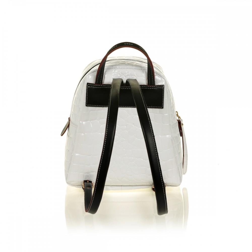 FRNC 1410 backpack croco, λευκό