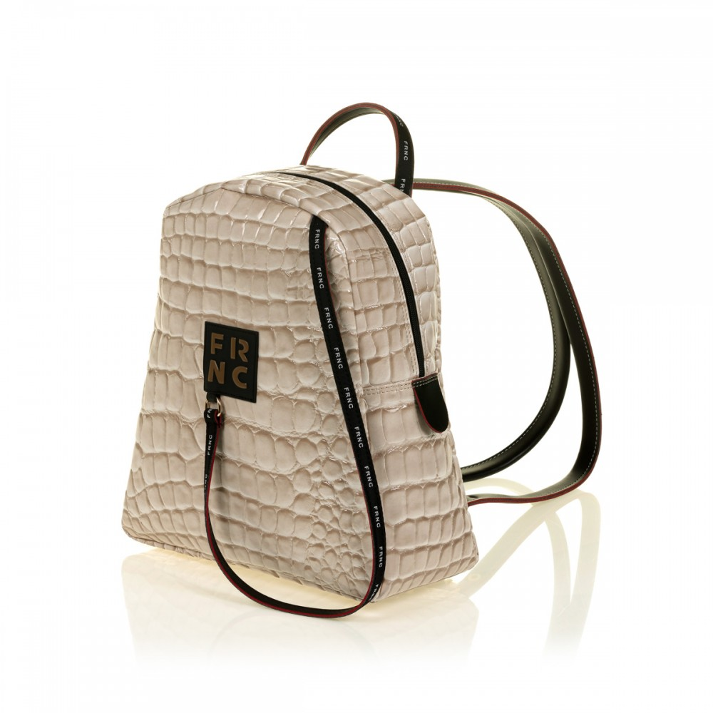 FRNC 1411 backpack croco, μπεζ