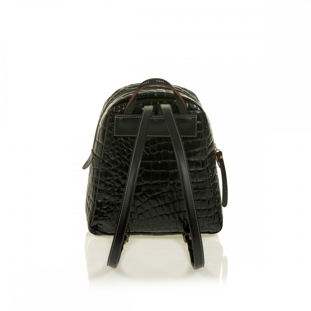 FRNC 1411 backpack croco, μαύρο