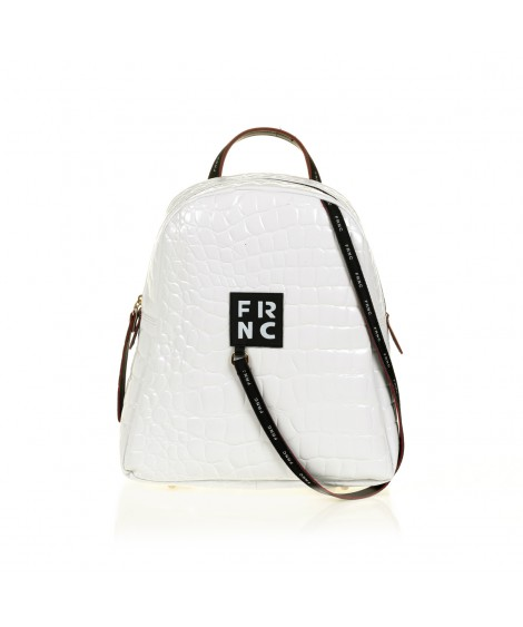 FRNC 1411 backpack croco, λευκό