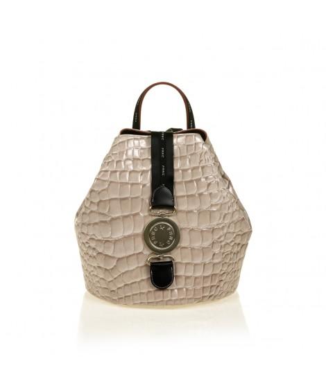 FRNC 1413 backpack πουγκί croco, μπεζ