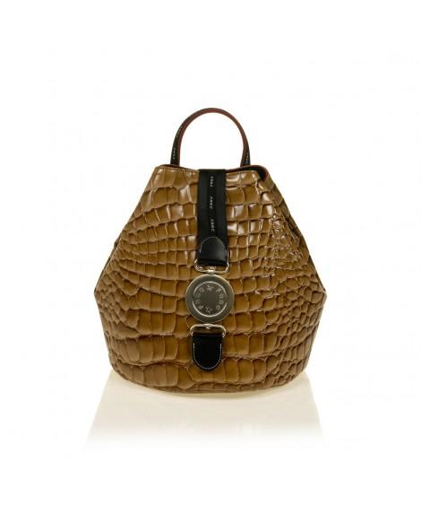 FRNC 1413 backpack πουγκί croco, κάραμελ