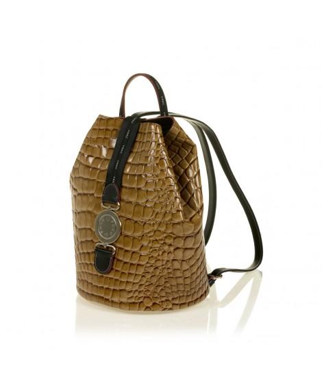 FRNC 1414 backpack πουγκί croco, κάραμελ
