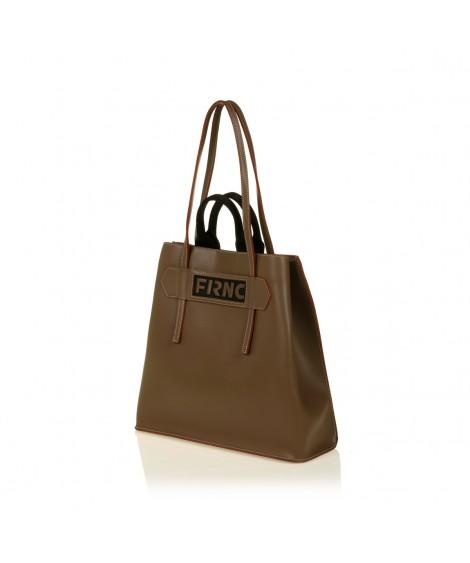 FRNC 1501 τσάντα χειρός - ώμου, μπισκοτί